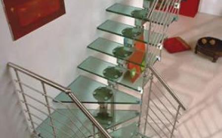 Escalier en verre feuilleté